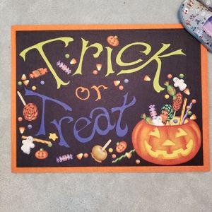 NEW Halloween Trick or Treat Door Mat Floor Mat